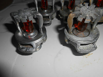 9 1952 Grinnell Fire sprinkler head fire fighting lot