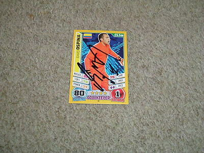 David Ospina - Colombia - Signed Match Attax 2014 World Cup Trade Card