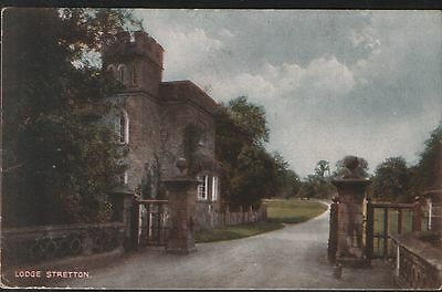Postcard - The Lodge, Stretton Hall, nr.Cannock, Staffordshire - posted in 1933.