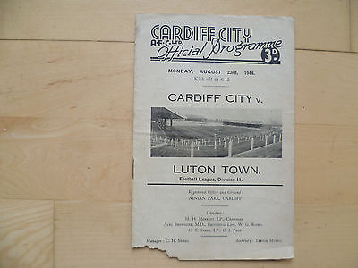 Cardiff City v Luton Town 1948 Division Two