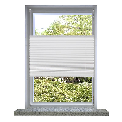 S# Roller Blind Blackout 50x100cm White Daynight Sunscreen Quality Window Blinds