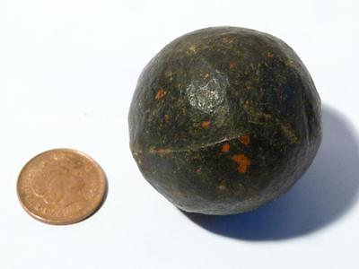 Antique Gutta Percha Gutty Early Rubber Golf Ball c1850's Smooth Used Dented