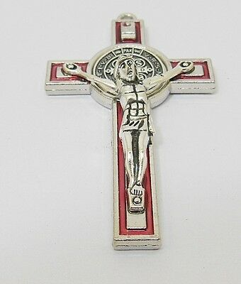 10X Enamel Red Charm Cross Pendant Jewellery Finding 7.3x4.2x1.2cm