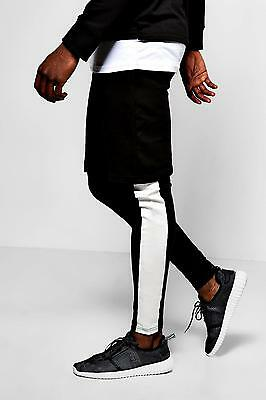 Boohoo Faux Layer Shorts/Meggings With Print per Uomo