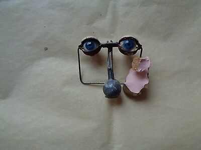 Paire d'yeux pour poupée ancienne Pair of eyes for old headstock