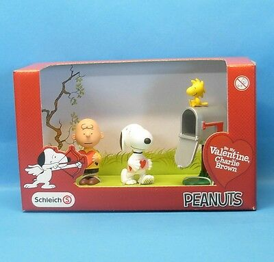 Peanuts VALENTINE Scenery Pack SCHLEICH Charlie Snoopy Woodstock OVP MiB 22033