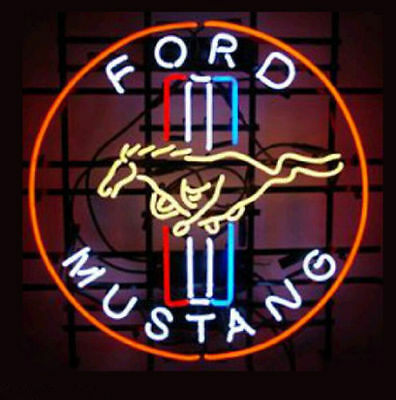 """New FORD MUSTANG NEON LIGHT SIGN 20""""x16"""""""