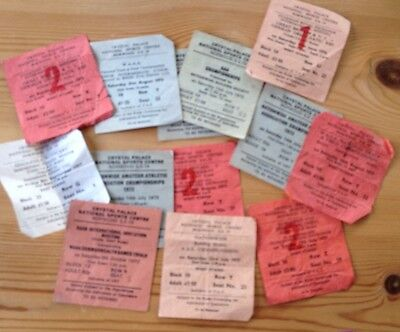 Crystal Palace Athletics Tickets 1970s