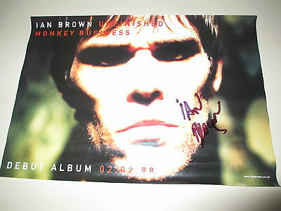 Ian Brown - Unfinished Monkey Business - Signed Promo Poster