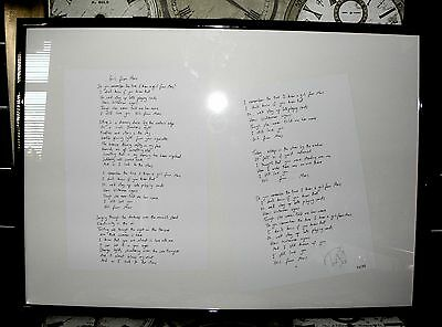 "TIM WHEELER Ash Signed ""Girl From Mars"" Limited Edition Lyrics Print 34/75"