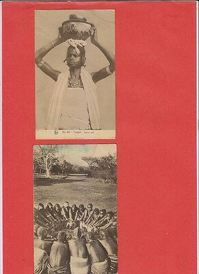 Lot of 35 old Postcards Africa Gabon Senegal Tribes Ethnic (Poor Condition !)