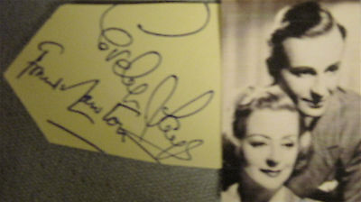 Evelyn LAYE & Frank LAWTON, Married Actors, 1930s-60s. Hand SIGNED Card & Photo