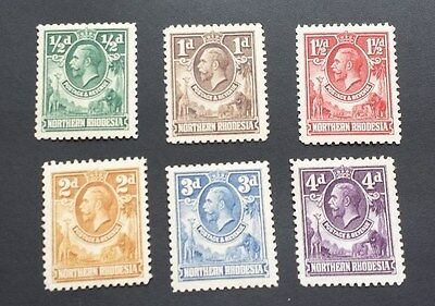 NORTHERN RHODESIA 1925 0.5d to 4d SG 1 - 6 Sc 1 - 6 MNH