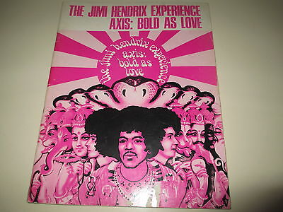 Jimi Hendrix - Axis Bold As Love - Original 1968 - 36 Page Music Book