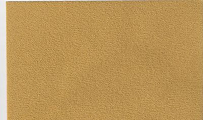 "1/12  DOLLS HOUSE SELF ADHESIVE CARPET 10""(25cm) x13""(33cm) GOLD/MUSTARD"