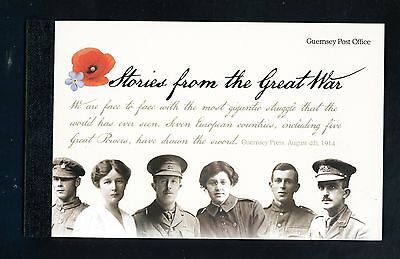 2014  Guernsey Stories from The Great War   Prestige Stamp Booklet
