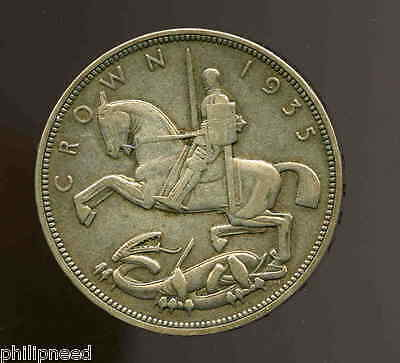 1935 George V Silver Jubilee Rocking-Horse Silver Crown [P660