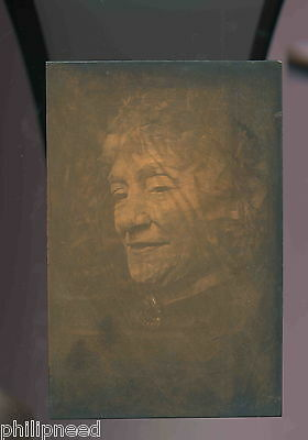 """Lady, Early Photography, 6""""x9"""" Copper Plate - Early Photogravure Plate?"""