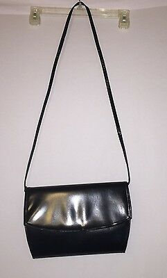 FRENCHY OF CALIFORNIA Women's Black Leather VINTAGE Handbag Pocketbook Purse