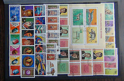 Guinea 1968 African Fauna + M/S Liberty 1972 Space Racial Equality Telecoms etc
