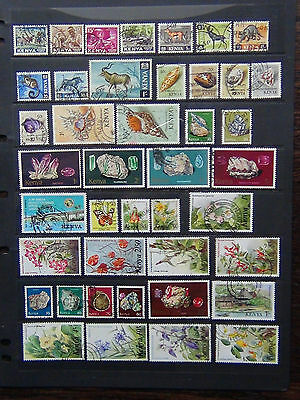 Kenya 1977 Minerals vals to 20s 1983 Flowers 4s 10s 20s 40s + others FU