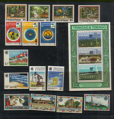 Trinidad and Tobago 1982-83 Four sets and miniature sheet unmounted mint