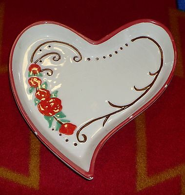 Heart Shaped Dish in the Rose Pattern