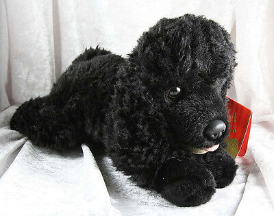"keel Toys Poodle standard miniature toy ""Frankie"" black soft toy tagged"