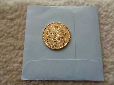 1898 Russia 5 Rouble Gold coin
