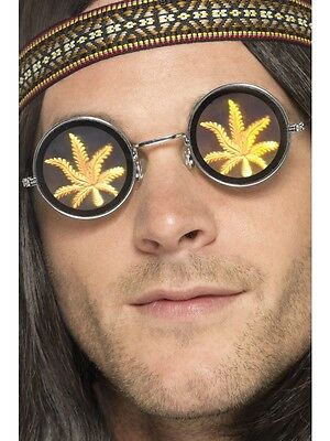 Holo Marihuana Brille 60er Cannabis Weed Psycho Sonnenbrille