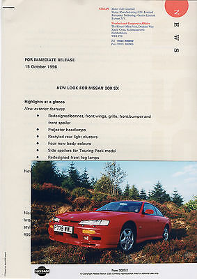 'New Look' Nissan 200 SX Press Release/Photograph - 1996