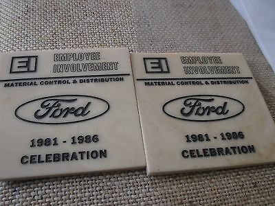 FORD Motor Company, Souvenir Coasters, Employee Involvement, 1981 - 1986