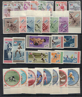 Dominican Republic 1957-60 Four Sports sets unmounted mint