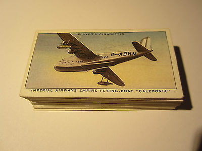 """PLAYER'S """" INTERNATIONAL AIRLINERS"""" 1936 FULL SET/50 [t]"""
