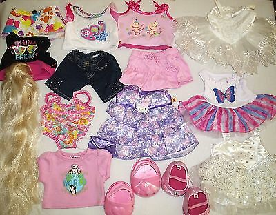 Large Group Lot Build A Bear BAB Doll Animal Clothes Beautiful Gowns +