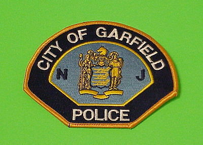 Garfield  New Jersey  Nj  Police Patch   Free Shipping!!!