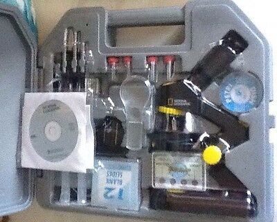 National Geographic Die Cast Microscope Set Opened But Not Used