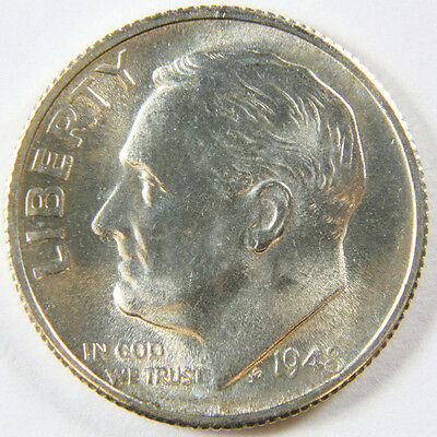 1948 S Brilliant Uncirculated Silver Roosevelt Dime - 90% Silver