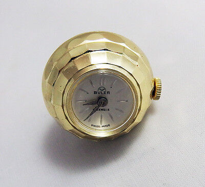 Vintage Gold Tone Buler 17 Jewels Swiss Made Mechanical Ladies Pendant Watch