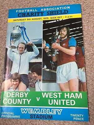 Derby County V West Ham United Charity Shield 1975