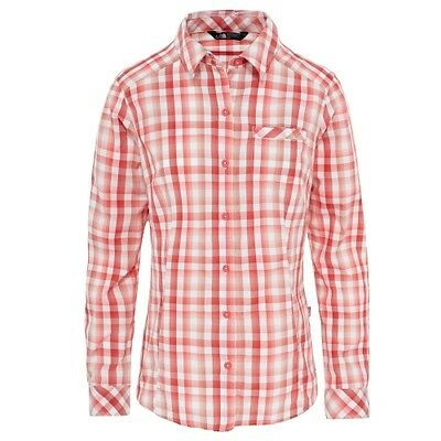 The North Face W L/S Zion Shirt cayenne red plaid Damenhemd Langarm Bluse