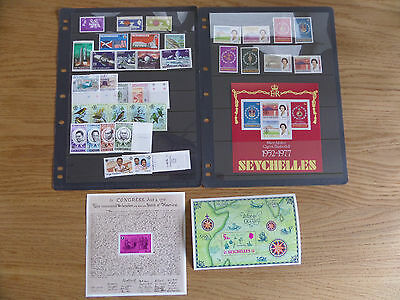 Seychelles Ten sets and three miniature sheets unmounted mint