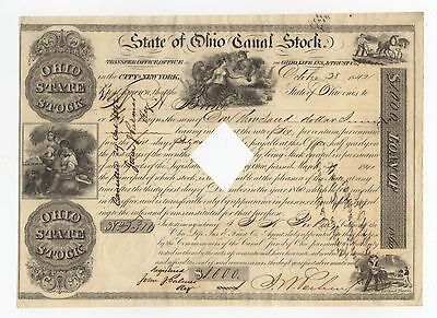 1841 State of Ohio Canal Stock