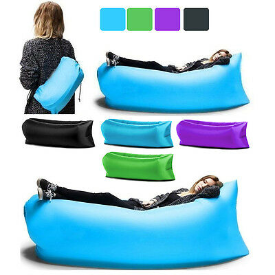 Lazy Air Sofa Bed Inflatable Chair Hammock Hangout Festival Camping Holiday Bag