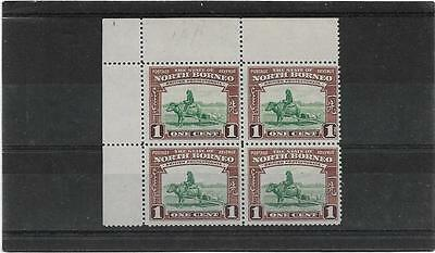 North Borneo 1939 1Cent Buffalo Transport Sg.303 Block Of 4 Unmounted Mint-Mnh