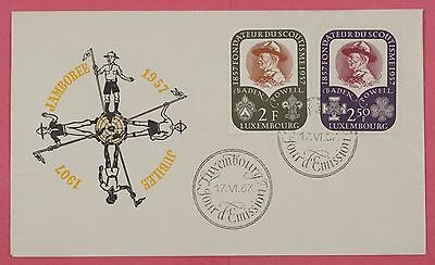 1957 Luxembourg Jamboree Jubilee Boy Scouts Cachet Cover
