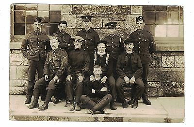 1912 RP Postcard Soldier Sherwood Foresters, & Others