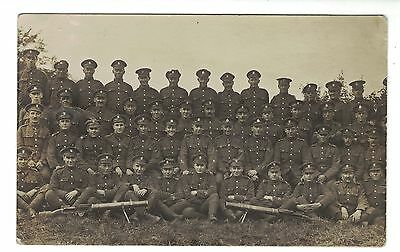 Real Photo Postcard, Soldiers, Royal Fusiliers, C.WW1