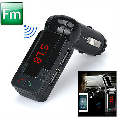 Dual USB Car Kit Charger Wireless Bluetooth Stereo MP3 Player FM Transmitter NEW