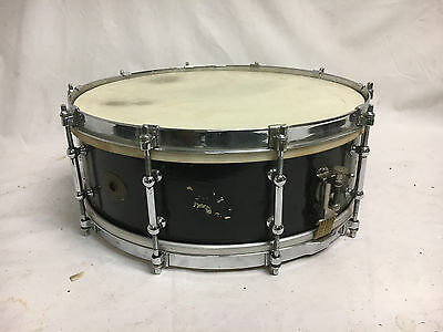 "Vintage Ludwig Chrome Plated Tube Lug Mahogany Snare Drum 1920's 5"" X 14"""